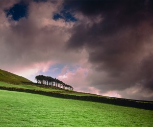 Storm in English Countryside