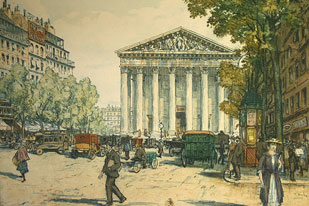 Etched Scenes of Paris by Simon