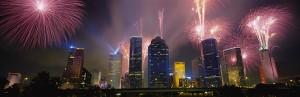 Fireworks in Houston