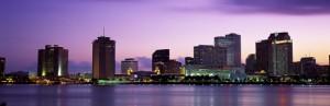 City lights at dusk