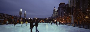 Ice skaters in Grant Park