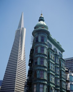 Transamerica Pyramid and Zoetrope Building