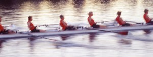 Team of women rowers