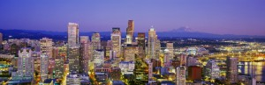 Seattle after sunset