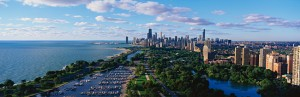 Aerial Lakefront Chicago, IL Picture