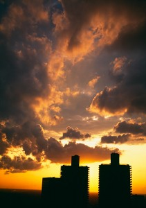 Clouds Over Marina Towers Photo