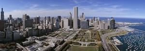 Lakefront Aerial Chicago Picture Illinois