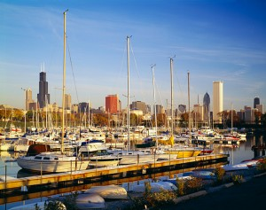 Boats in Marina Chicago Illinois