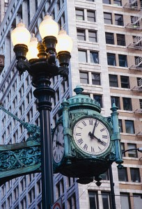 Photograph of The Marshall Field Clock Chicago