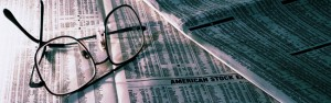 Stock Market and Eyeglasses Picture