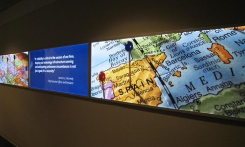 T. Rowe Price Product Wall and Display