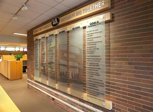 McDonalds Timeline Wall Display