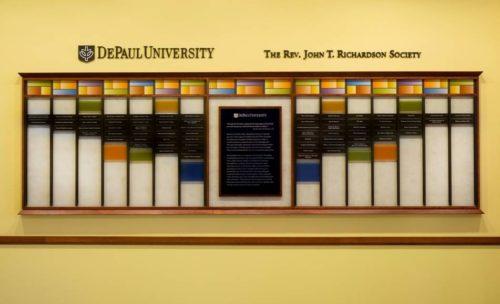 DePaul University Richardson Wall
