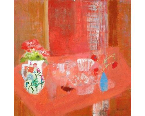 Cecily Vase on Red