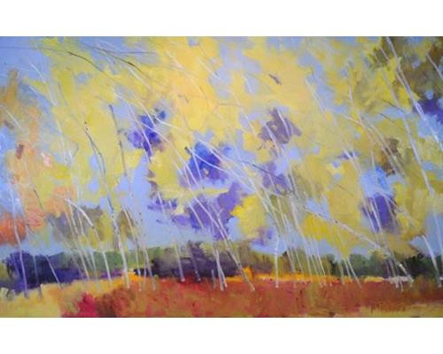 Wind Swept Birch 36 in. x 56 in.
