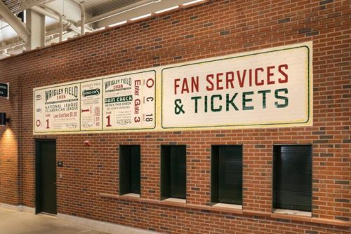 Cubs 1938 Box Seat Ticket Mural