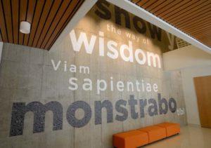DePaul University Motto Graphic Wall Design