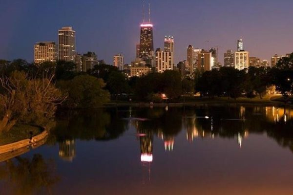 Chicago Photos Night Reflection