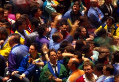 Traders at the Chicago Board of Trade