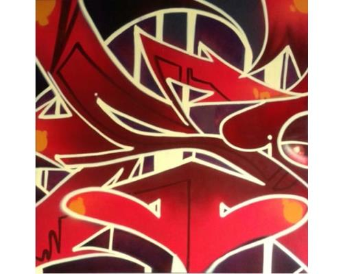 Styles – mixed media on wood – 48 in. x 48 in