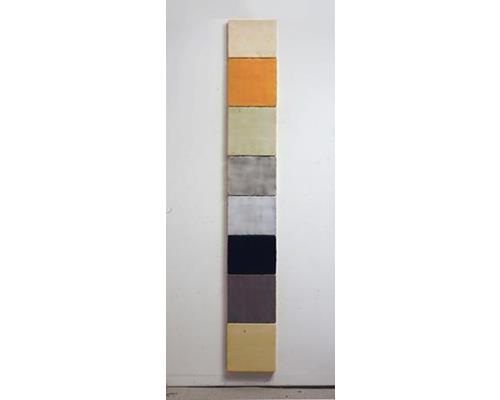 ss002-7_Octet, encaustic on 8 panels, 75 x 10.5 in