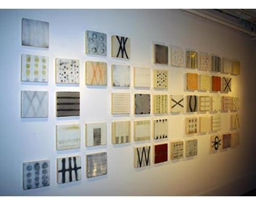 ss003-9a, Rinaldi, Fugue, encaustic on 50 panels