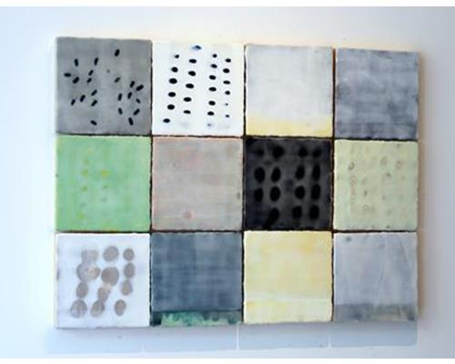 ss015-Rinaldi–Prelude no. 1, encaustic on 12 panels, 32 x 43 in.